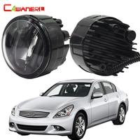 Cawanerl 2 Pieces Car Styling LED Fog Light Daytime Running Lamp DRL 12V For Infiniti G37