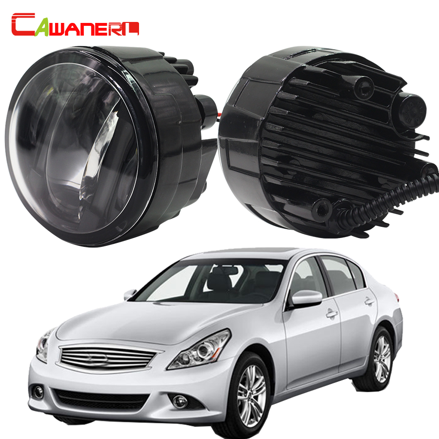 Cawanerl 2 Pieces Car Styling LED Fog Light Daytime Running Lamp DRL 12V For Infiniti G37 Sport 3.7L V6 - Gas 2011 2012 2013 cawanerl for toyota highlander 2008 2012 car styling left right fog light led drl daytime running lamp white 12v 2 pieces