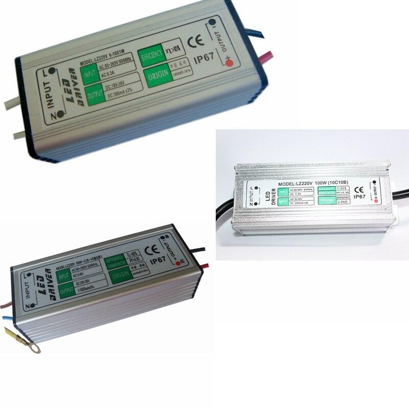 AC 85-265V To DC 3 -10V / DC 30 - 36V LED Driver IP67 Waterproof Lighting Transformers Power Supply 10W 20W 30W 50W 100W power supply module driver for led ac 85 265v page 4 page 3