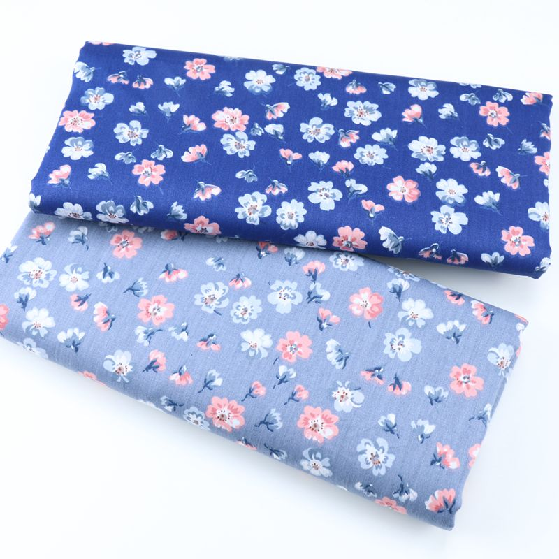160x50cm blue floral cotton design tissus high quality tecidos DIY sewing craft cloth fabric patchwork quilts 160g m in Fabric from Home Garden