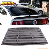 Fits 05 14 Ford Mustang GT V6 V8 Rear Window Louver Matte Black ABS USA Domestic Free Shipping Hot Selling