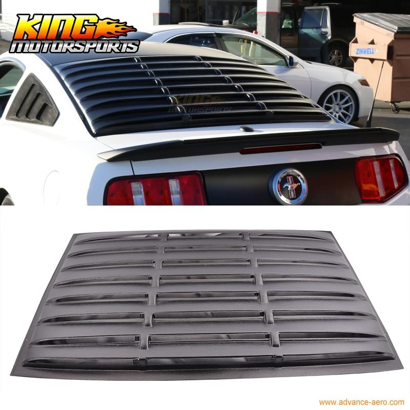 Per 05-14 Ford Mustang Posteriore Finestra Feritoia Nero Opaco ABS USA Domestico Vendita Calda di Trasporto libero
