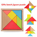 New Children Mental Development Tangram Wooden Jigsaw Puzzle Educational Toys for Kids