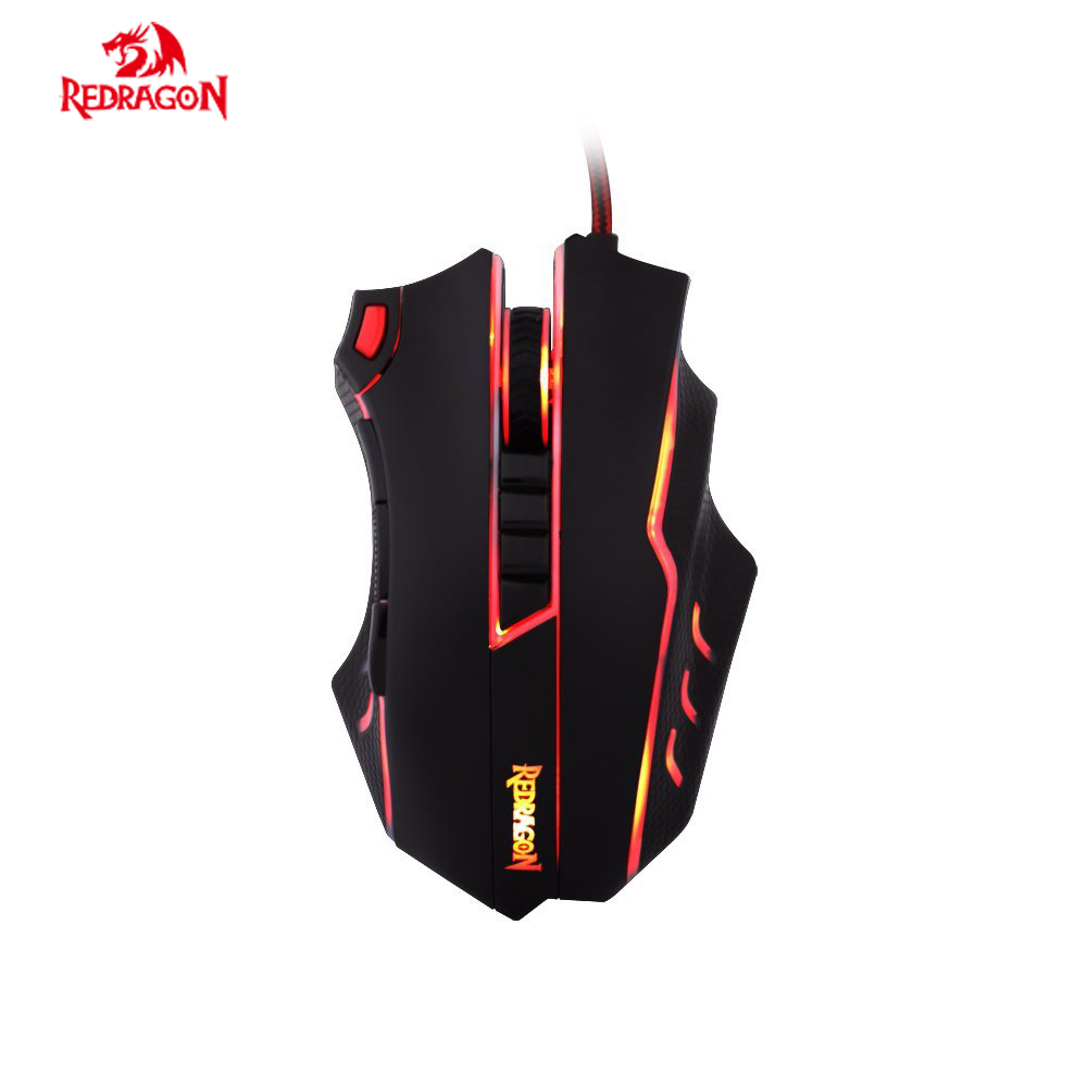 Redragon M802 TITANOBO Laser Gaming Mouse USB Wired 10 Programmable Buttons 24000 DPI High-Precision for Laptop Computer термопот redmond rtp m802