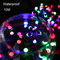 Tanbaby Waterproof Holiday outdoor lighting 10M 72 led white /warm white /RGB led string lights christmas new year decoration