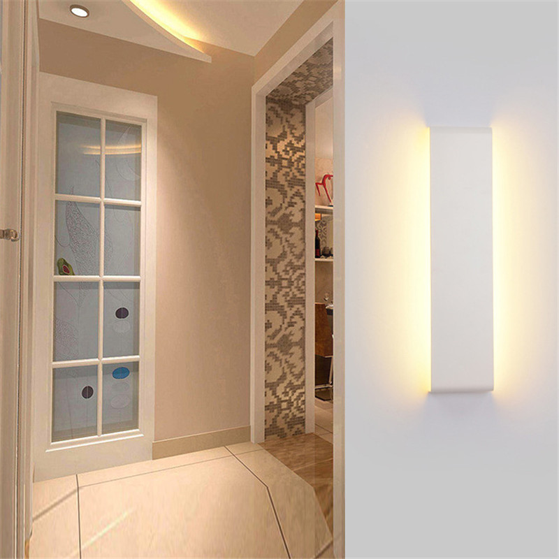 55cm White LED Modern Wall Lamp Aluminum Mirror Light Living Room Bathroom Hallway Stairs bedside Sconce 40cm 12w acryl aluminum led wall lamp mirror light for bathroom aisle living room waterproof anti fog mirror lamps 2131