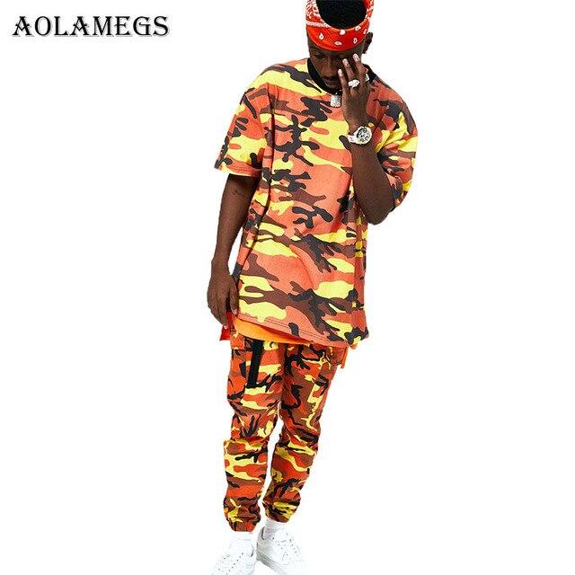 Casual Pantalon Poches Cargo Aolamegs 2017 Camouflage Hop Hip Baggy Pantalon Pantalons Coton Hommes Militaire Tactique 7qq0w