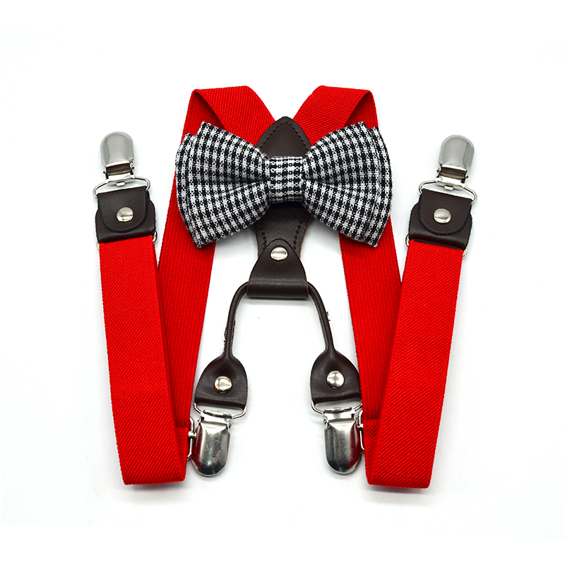 Toddler Bow Tie Kids Suspenders Bow Ties Set Adjustable Length Colorful Boys Brace Bow Tie Set New Arrival Spring