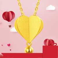 XXX 24K Pure Gold Necklace Real AU 999 Solid Gold Chain Trendy Hot Air Balloon Upscale Classic Party Fine Jewelry Hot Sell New
