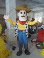 export high quality hot sale red scarf cow boy mascot costumes