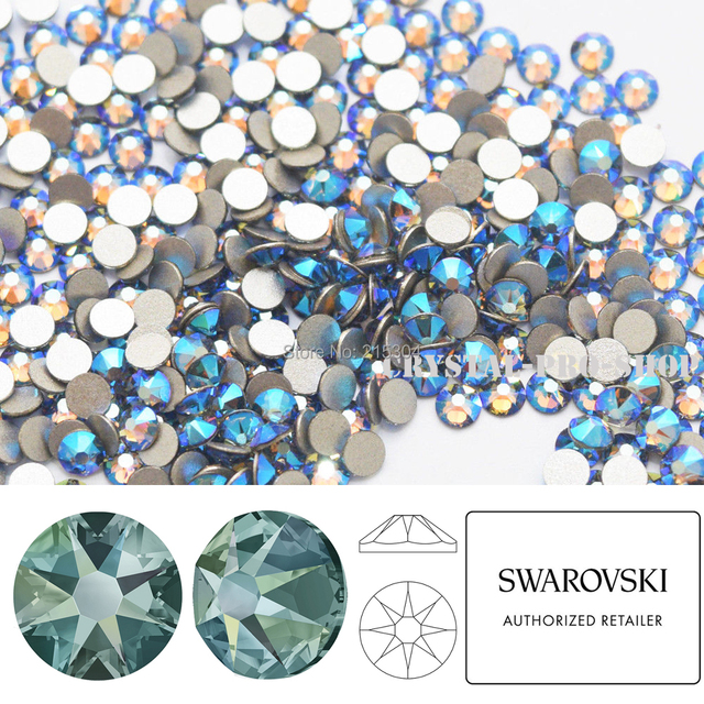 NEW Effect Swarovski Elements Black Diamond Shimmer ( 215 SHIM ) ( ss5 -  ss30 ) ( No Hotfix ) Flat Back Crystal Rhinestones DIY 9bd595e397c9