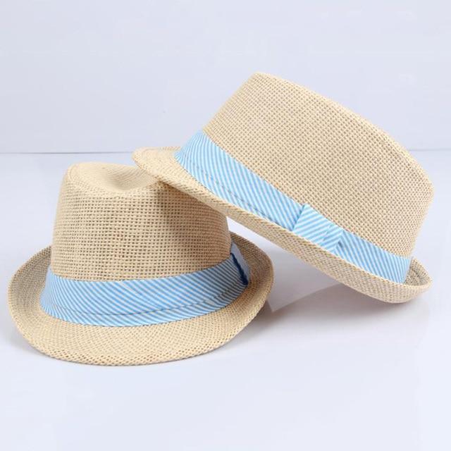 56d91080f Lato Dorywczo Plaża Słońce Cap Dziecko Dzieci Oddychające Jazz Kowbojski Kapelusz  Słomkowy Panama Kapelusze Fedora