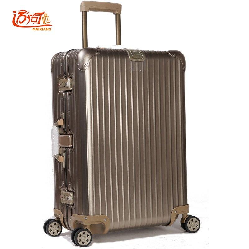 100% Vollaluminium Rollgepäck Valigia Trolley Koffer Für Reisen Trolley Reise Trolley Roll Taille Und Sehnen StäRken
