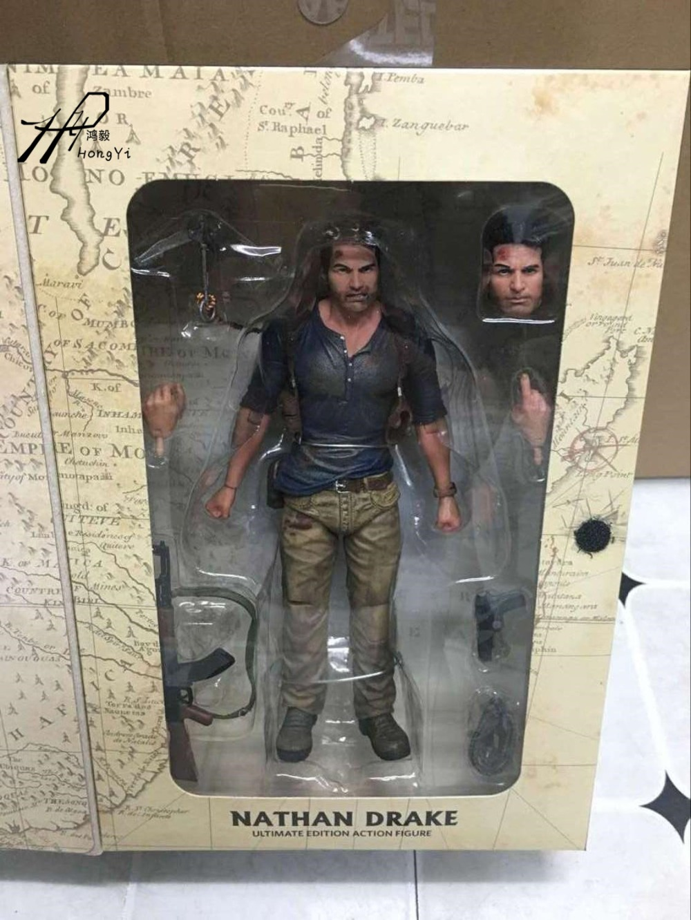 NECA Uncharted 4 A thief's end NATHAN DRAKE Ultimate Edition PVC Action Figure Collectible Model Toy 7 18cm neca the texas chainsaw massacre pvc action figure collectible model toy 18cm 7 kt3703