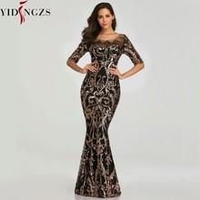 فستان الحفلات المسائية من YIDINGZS مطرز بالترتر 2020 فساتين مسائية رسمية طويلة نصف كم من الخرز YD603
