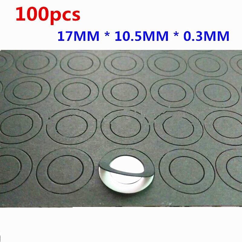 100pcs/lot 18650/18500 Lithium Battery Insulation Gasket,  Barley Paper,  Flat Head,  High Temperature Insulation Gasket