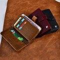 Pierre cardin luxo caixa do couro genuíno real para iphone 7/7 plus 6/6 s 6/6 s Saco Do Telefone do Estilo do Livro Carteira Estilo Flip Casos de Cobertura de
