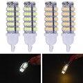 2Pcs License plate Lamp 5w T10 LED 68-SMD Turn Reversing signal Light tail box Lamp Bulb 921 912 906 168 W5W DC10~15V