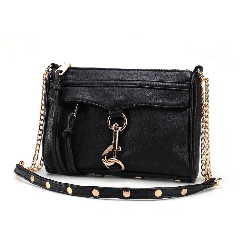 Mini Women Messenger Bags 2018 High Quality PU Leather Women Handbag Design Famous Brands Luxury Classical Chain Women Bag 252