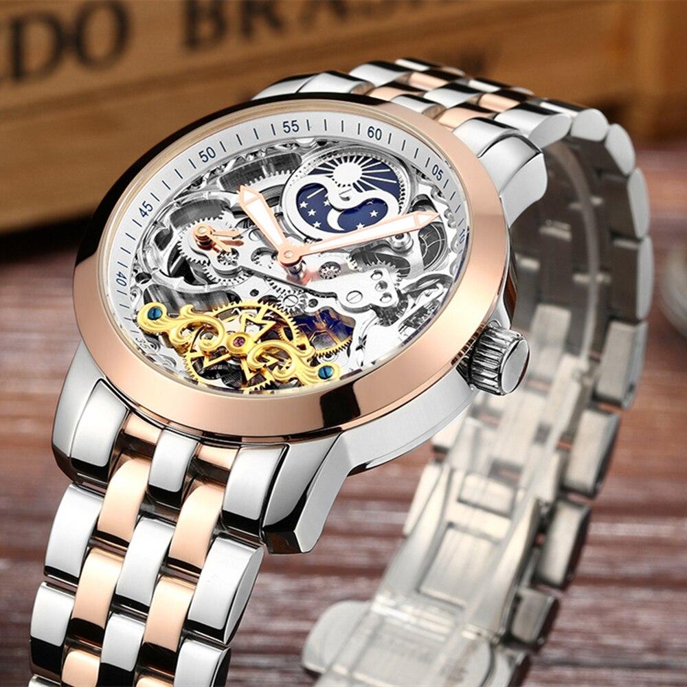 ФОТО Men Watches 2017 LIGE Men Watches Brand Luxury Famous Military Watch Men Clock Skeleton Automatic Wristwatch Relogio Masculino