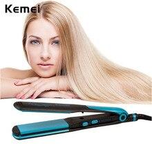 Buy Kemei Flat Iron Hair Straightener Portable Straight Volume Dual-use Hair Curler Flat Irons Hairdressing Tool Hair Iron HS127BQ
