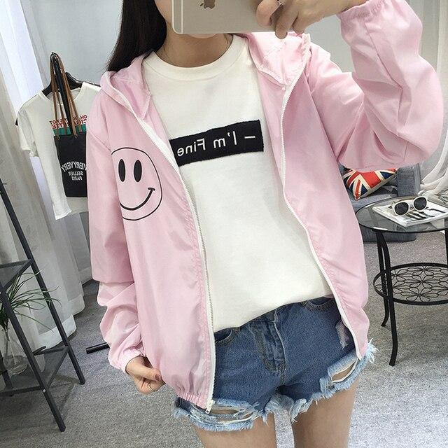 Women Basic Jacket New Fashion Hooded Thin Outwear High Quality Windbreaker Female Summer/Spring Sunscreen Jacket 2018 2