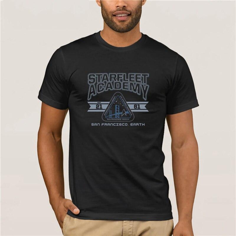 Summer Fashion Street Short Sleeve T-Shirt Starfleet Academy Shirt 2019 Latest Popular Men's Casual T-shirt