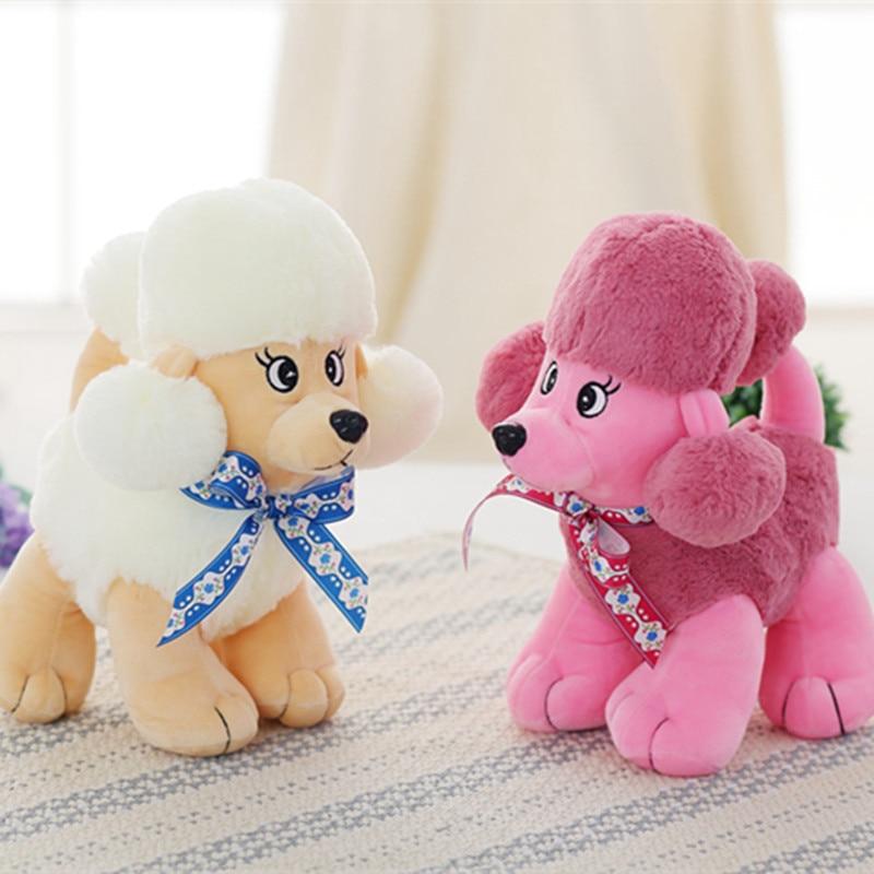23cm Cute Staffed Poodle Toys Plush Soft Teddy Dog Toy Dolls Kawaii Animal Gift for Children Kids Love Toys Birthday Present
