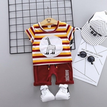 Brand Cotton Kids Clothing Sets Leisure Sports Boy T-shirt + Shorts Toddler Boys Cartoon Baby Causal Clothes