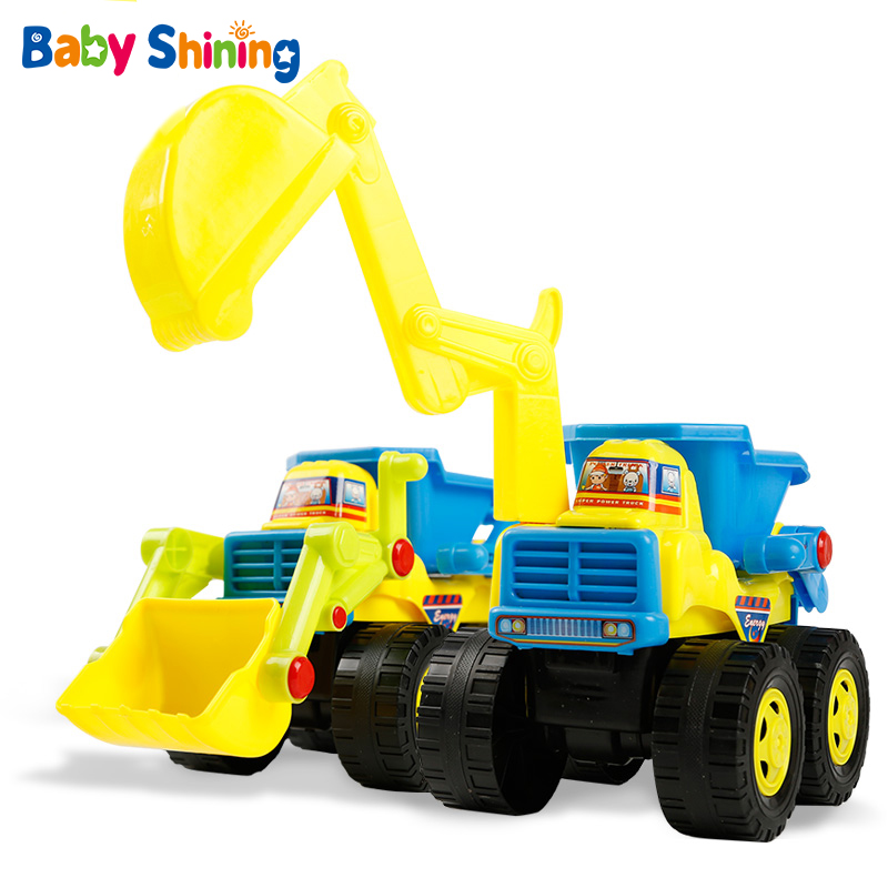 Baby Shining Beach Toys Construction Vehicle Toy Children Excavator Forklift Loading Car Toys Plastic Truck Model For Child Gift
