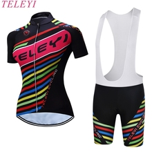TELEYI 100% Polyester Quick Dry Bike Summer Short Sleeve Pro Team Ropa Ciclismo Cycling Jersey Shirt Breathable MTB