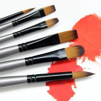 Pces/conjunto de prata de alumínio tubo de tinta a óleo escova diy pintura haste de bétula escova arte suprimentos