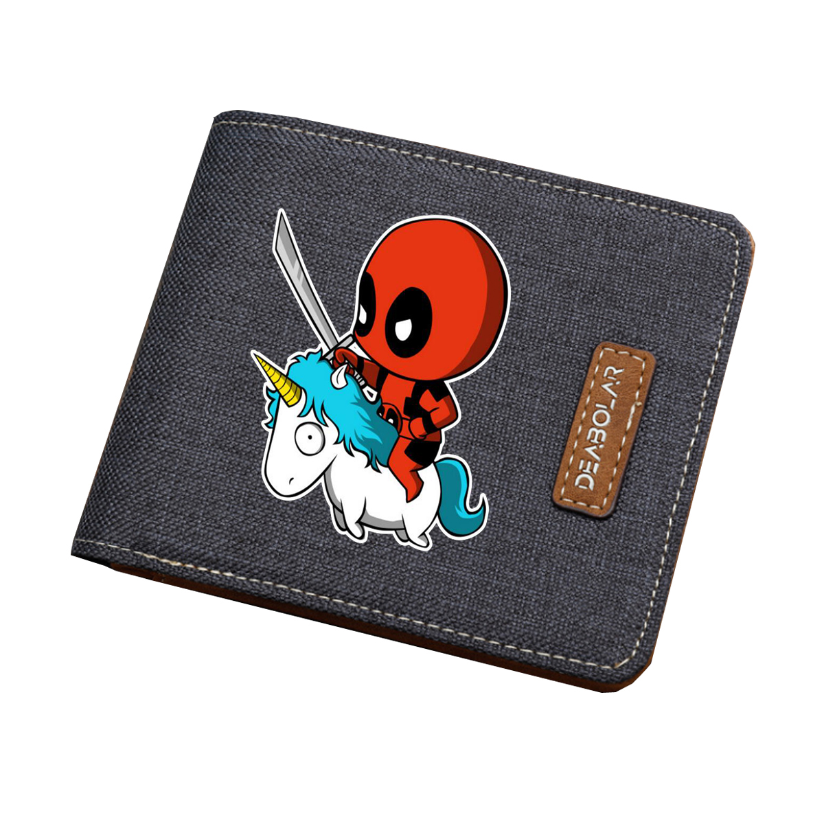 Deadpool Wallet Money-Bag Coin-Purse Comics Teenagers Women Card-Holder Short Canvas