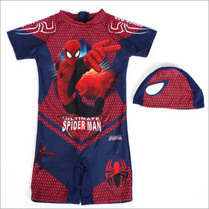 2PCs Swimming Clothes For Boy Spiderman Swim Trunks With Cap Boys - Sportswear and Accessories - Photo 5