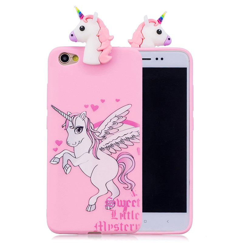 Phone Case On For Xiaomi Mi A1 Cover For Xiaomi Mi 5X 6X Redmi 5A Note 5A  Fundas 3D Silicon Doll Toys Cartoon Soft TPU Case Capa