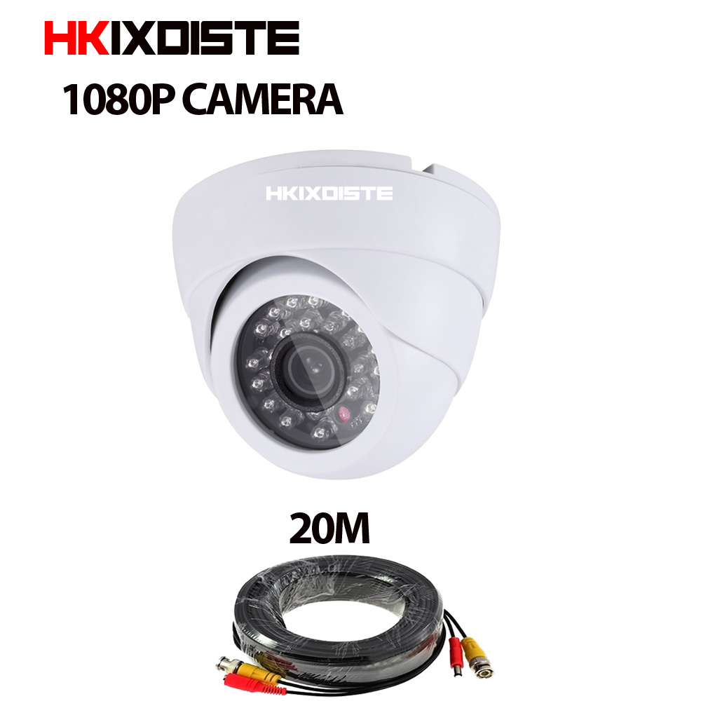 New AHD Camera 1080P 2MP CCTV Security 3000TVL AHD Camera HD 2MP Nightvision Indoor Camera IR Cut Filter 1080P Lens + 20m cable new 2mp hd cctv ahd camera 1080p zoom 2