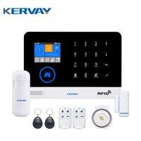 Kervay WIFI RFID Sistema de Alarma GSM Seguridad Para el Hogar Con RU ES PL DE Conmutable Panel Táctil LCD Disply APP Control Remoto