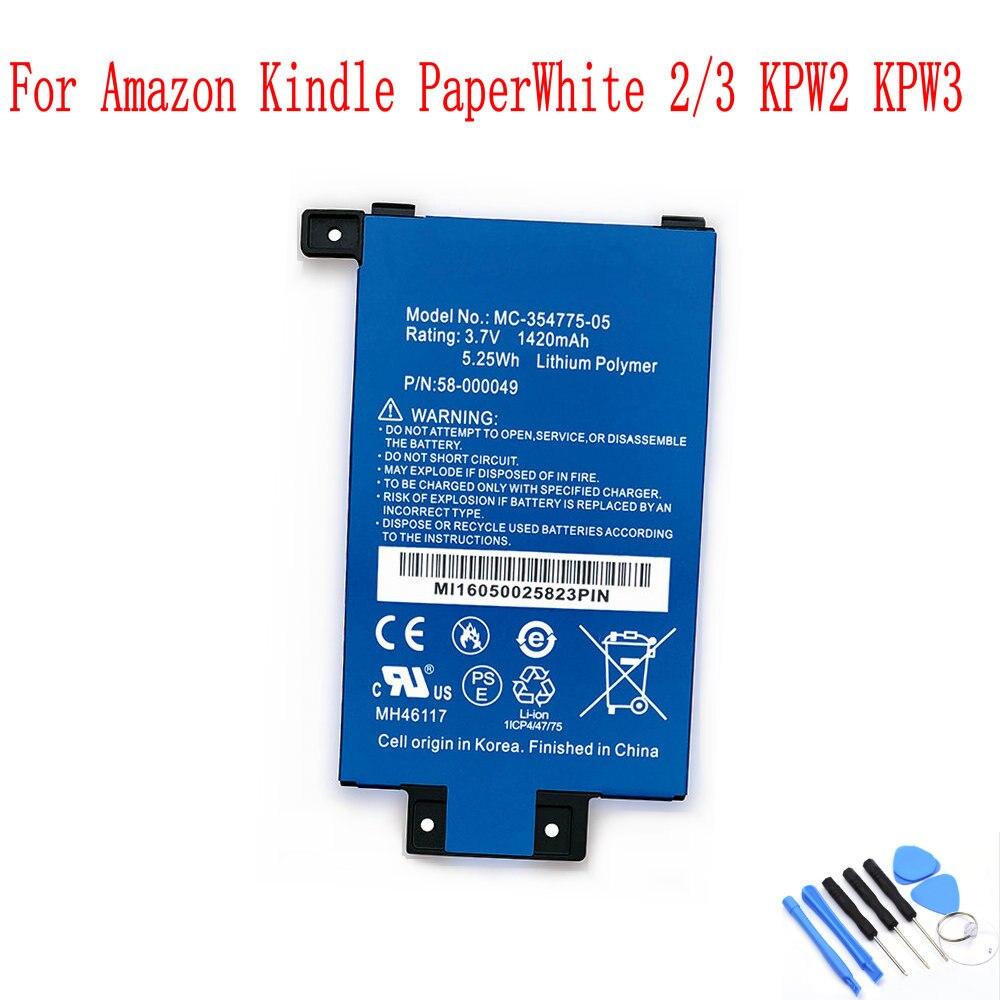 100% Новый оригинальный MC 354775 05 1420 мАч S13 R1 D 58 000049 Аккумулятор для Amazon Kindle PaperWhite 2/3 KPW2 KPW3 Batterie|Аккумуляторы для мобильных телефонов|   | АлиЭкспресс