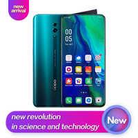 OPPO Reno Nuovo Arrivo Smart phone 6.4 pollici Qualcomm710 Supporto NFC 2340*1080 Octa Core 3 Telecamere 48MP + 5MP 3765mAh di Impronte Digitali ID