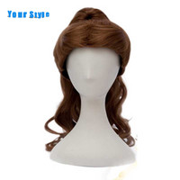Your Style Long Wavy Brown Anime Cosplay Party Wigs Claw Clips Ponytails Synthetic Women S Hair