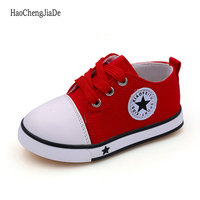 summer spring Canvas children's shoes star fashion sneakers kids lace-up casual shoes for girls boys black withe red 5 colors