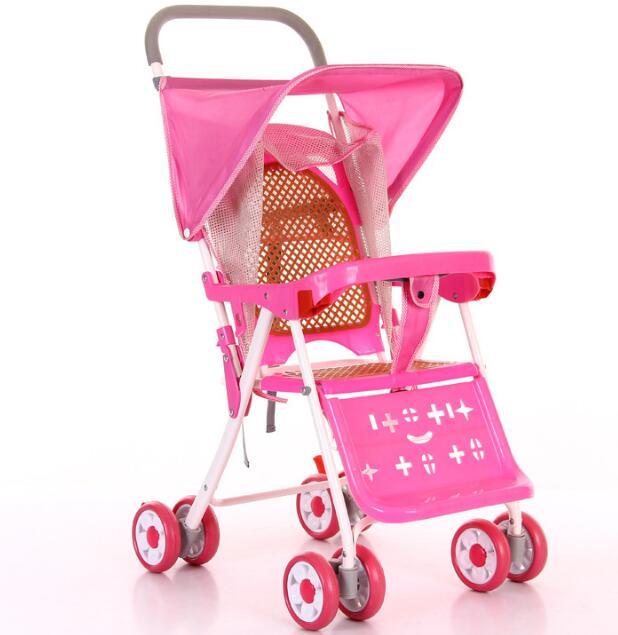 2017 vente chaude Cool été bébé chariot parapluie voiture enfants Ultra-léger pliant peut se coucher chariot