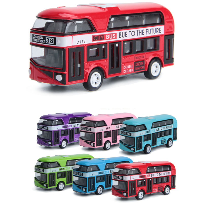 <font><b>1:43</b></font> London double decker bus Machine Diecasts Toy Vehicles Hot Wheel <font><b>Car</b></font> <font><b>Model</b></font> With <font><b>Car</b></font> Hot Wheel Doors Can Be Opened Toy image