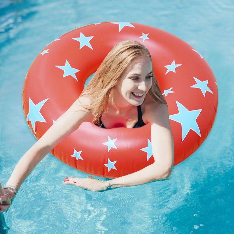 2019 nouvel anneau de bain gonflable coloré de Tube d'impression d'étoile pour des enfants d'adultes équipement de jeu de l'eau de cercle de natation de sécurité d'étoile à cinq branches