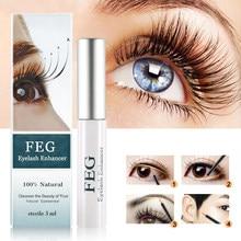 Feg máscara para crescimento de cílios, serum de tratamento natural para crescimento e fortalecimento de cílios, medicina herbal para olhos e alongamento 100%