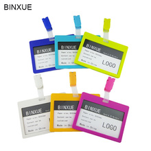 BINXUE Cover card,ID Holder,Work card,badge identification tag, colour staff badge Student transit Access control Clip
