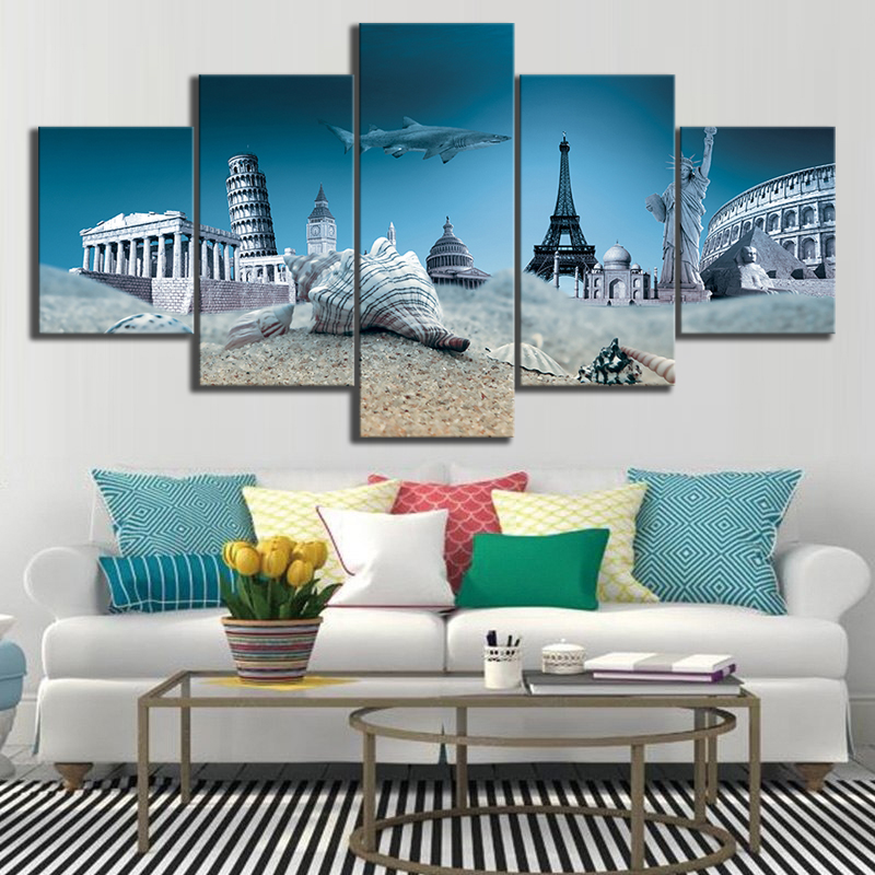 Scenic Spots and Historical Sites Landscape Home Canvas Wall Art For Living Room Painting HD Print Wall Art Canvas Painting in Painting Calligraphy from Home Garden