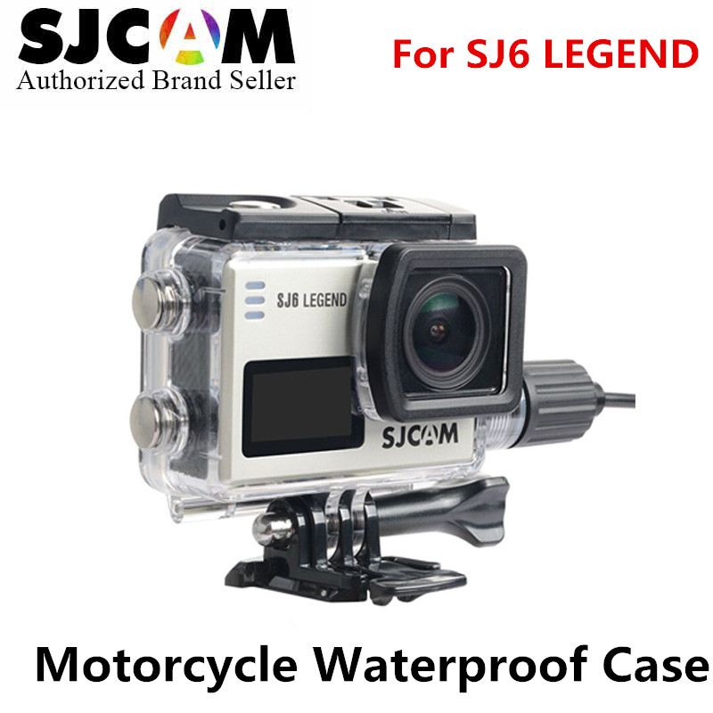 10PCS SJCAM Motorcycle Waterproof Case SJ6 Charging Case camere Accessory for Original SJCAM SJ6 Legned action helmet camera