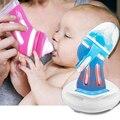 Детская стеклянная бутылка анти-падение силиконовый широкий калибр бутылочка для новорожденных изоляция интеллектуальный контроль темпе...