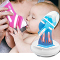 Botella de vidrio anticaídas de silicona de gran calibre para bebé recién nacido con aislamiento botella de Control de temperatura inteligente